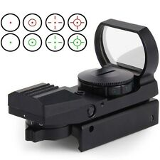 Holographic Red Green Dot 11mm Scope Gun Sight Reflex 4 Reticle Tactical Rifle
