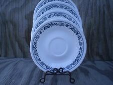 Corelle Dishes Old Town Blue Saucer Plates Set Of 4