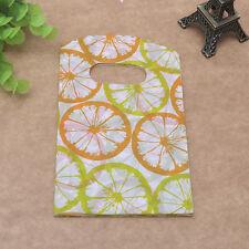 50pcs Pretty orange geometry Plastic Jewelry Gift Bags 15X9cm Shopping  Handbag