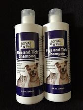 2 Bottles Of 8 OZ Each Royal Pet Flea and Tick Shampoo Dogs Cats Bath Shower