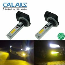 2X Car Auto 881 COB 850LM 24W LED Fog Light Bulb Yellow Gold 12-24V Lamp