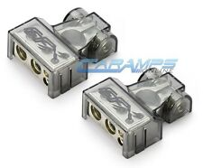 EFX CAR STEREO PLATINUM NICKEL BATTERY TERMINAL CLAMP SET 0 | 4 | 8 GAUGE OUTPUT