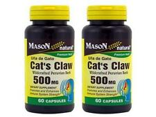 2 X 60 = 120 CAPSULES CAT'S CLAW UÑA DE GATO CATS 500 mg NATURAL Immune System