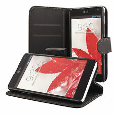 LG Optimus G E975 Housse pochette wallet case noir + protection d'écran