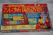 Vintage 1976 Radio Shack Science Fair 75-In-One Electronic Project Boxed Kit