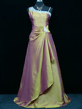 Cherlone Gold One Shoulder Ballgown Wedding Evening Bridesmaid Dress Size 14-16