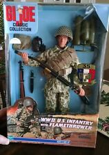 GI JOE WWII US INFANTRY W FLAME THROWER  CLASSIC COLLECTION e94