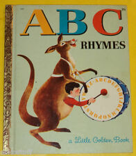 A B C Rhymes 1964 Little Golden Book Great Illustrations! Nice See!