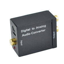 Digital Coaxial Optical Toslink 2 Analog L/R 3.5mm Jack Audio Converter Box Kit