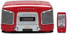 Teac SL-D 930 rot Retro Kompaktanlage (2.1 Kanäle, Radio, CD, MP3/WMA, RDS,