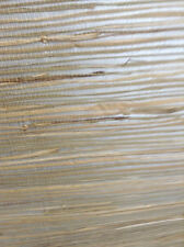 SILVER METALLIC Beige Natural GRASSCLOTH Wallpaper Brewster HY30272 Double Rolls