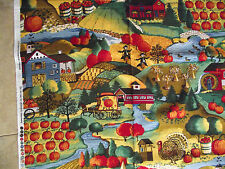 AMERICAN HARVEST FALL HARVEST & COUNTRY STORE PUMPKINS FABRIC QUILT COTTON BTY