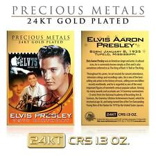 ELVIS PRESLEY 24KT Gold Plated Precious Metals Card CRS 1.3 oz Birthday