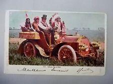 USA gel. 1907 Indian Up to Date Indianer im Oldtimer