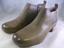 DANSKO WOMEN'S LOLA ZIPPER ANKLE BOOTS TAUPE LEATHER 42 12 MEDIUM $170