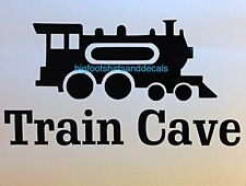 Train Cave Decal HO Model Railroad N Scale Hobby Man Cave Door Window Sticker A