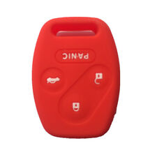 Red 3+1 Buttons Silicone Protective Fob Skin Key Cover Jacket fit for Honda