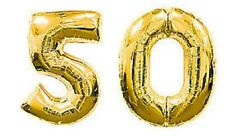 Number 50 Foil Gold Balloons 50th Golden Wedding Anniversary Birthday Decoration