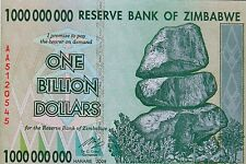 ONE BILLION DOLLAR BILL Zimbabwe 2008 Banknote African Paper Money Real Mint New