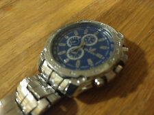 Mens Wrist WATCH- Analog- Band Clasp- Stainless Back- ORLANDO- BLUE SILVER