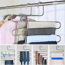 Pants Trousers Hanging Clothes Hanger Layers Clothing Storage Home Space Saver
