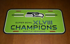 2014 SEATTLE SEAHAWKS SUPER BOWL XLVIII CHAMPIONS LICENSE PLATE - NEW