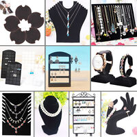Display 10Types Jewelry Earring Ring Necklace Watch Stand Holder Show Rack Gift