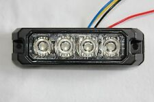 4 LED Grille Surface Mount Warning Emergency Caution Towing Light