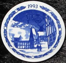 1993 ROYAL COPENHAGEN FAYENCE MINI WEIHNACHTSTELLER / CHRISTMAS PLAQUETTE