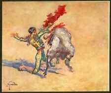 Pase de rodillas-josé G de la peña 1928-el Torreo de hoy-ORIG. heliochromie