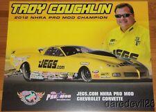 2013 Troy Coughlin Jeg's Chevy Corvette Pro Mod NHRA postcard