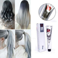 HAIR COLOUR PERMANENT CREAM HAIR DYE LIGHT GRAY SILVER PROFESSIONAL Hot