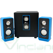 Altoparlanti Ome DAVE speaker 2.1 PC notebook SUBWOOFER mac stereo USB 5W+3W x 2