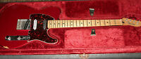 2003 CHERRY RED 3-PICKUP/MAPLE NECK MEXICAN FENDER TELECASTER W/ CASE