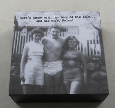 Here's Henry with Love of Life...And His Wife, Helen! Whimsical Box Sign Signs