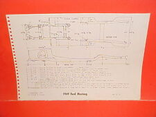 1969 FORD MUSTANG THUNDERBIRD LINCOLN CONTINENTAL MARK III FRAME DIMENSION CHART