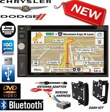 CHRYSLER JEEP DODGE Jensen Navigation Double Din DVD Radio Stereo bluetooth bt