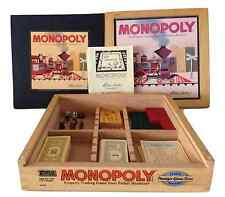 Monopoly Nostalgia Game Trains Money Dice Series in Wooden Collector's Box 2001