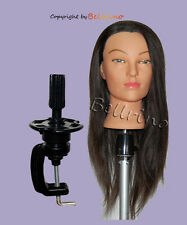 "*USA SELLER*  24"" Cosmetology Mannequin Head HUMAN Hair W/Clamp o"