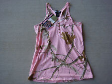 Realtree Womens Pink Camo Camouflage Tank Halter Top Shirt Small S - LICENSED
