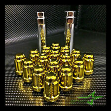 "20 GOLD MUSTANG LUG NUTS | RACING 6 SPLINE LUGS | 1/2""-20 