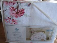 Simply Shabby Chic Sunbleached Floral Duvet Cover & SHAMS 3 PC  KING   NIB