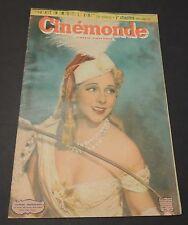 CINEMONDE n°800. Décembre 1949. Yvonne Printemps, Michèle Morgan