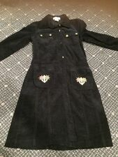Black Courdory Girls Size 12 Dress. Sunflowers. Made In Israel.