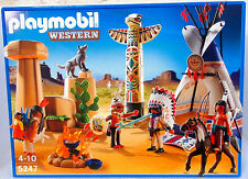 Taille Indien Camp playmobil 5247 v.' 11 à tipi Mustang western totem OVP NOUVEAU