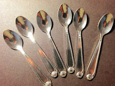 SET OF 6 STAINLESS STEEL MINI ICE CREAM DESSERT SPOON 4 INCH LONG NEW