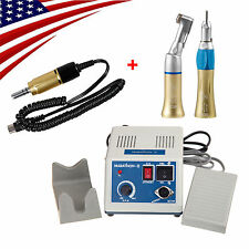 From USA ! Dental Lab Marathon Electric Micro Motor 35K RPM + 2X Handpieces Gold