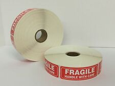 500 1x3 FRAGILE Warning Handle With Care Mailing Shipping Labels