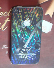 3D Guitar Mirror Bling Black Side Screen Protector For Apple iPhone 5 5S 5C 5SE