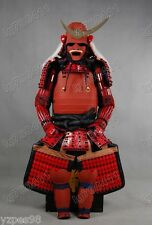 Red Collected Iron & Silk Japanese Art Samurai Armor wearable Suit